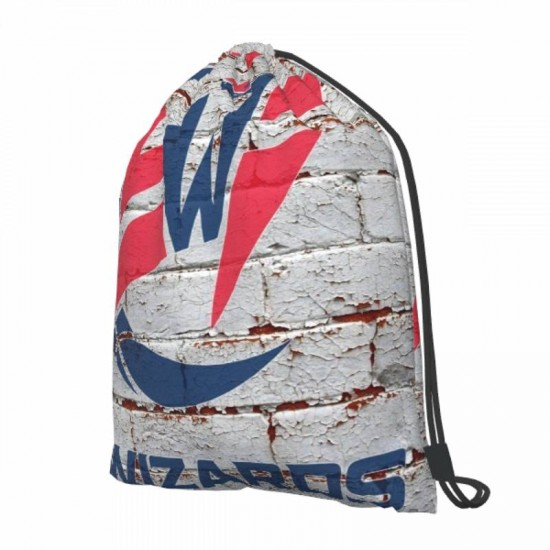 Two Size Washington Wizards Drawstring strap pack #288098 Great for Outdoor Sports & Storage