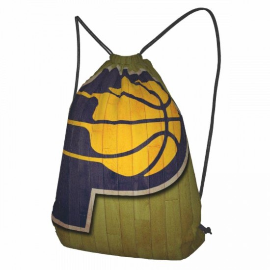 Sports Backpack Indiana Pacers Drawstring strap pack #293194 for School,Travel,Gym